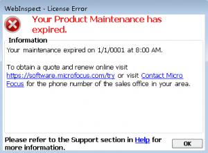 webinspect_20.2_maintenance_has_expired